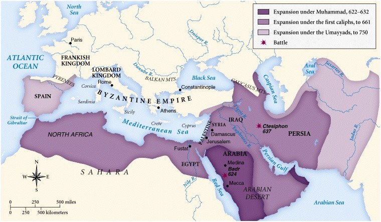 the origin and rise of islam during the seventh century The truth about islamic crusades and imperialism  islam moved aggressively during the caliphates of abu bakr and umar in the seventh century, with other caliphs continuing well beyond that .